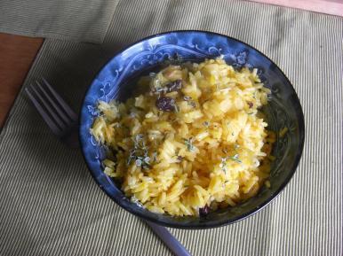 ... with raisins and harissa
