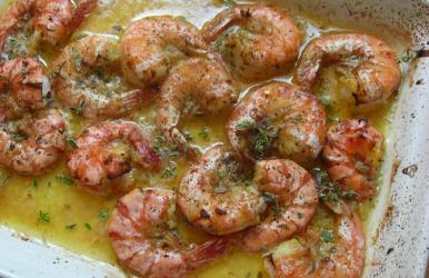 Shell-on Shrimp Scampi