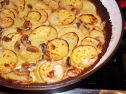 Potato and shroom gratin