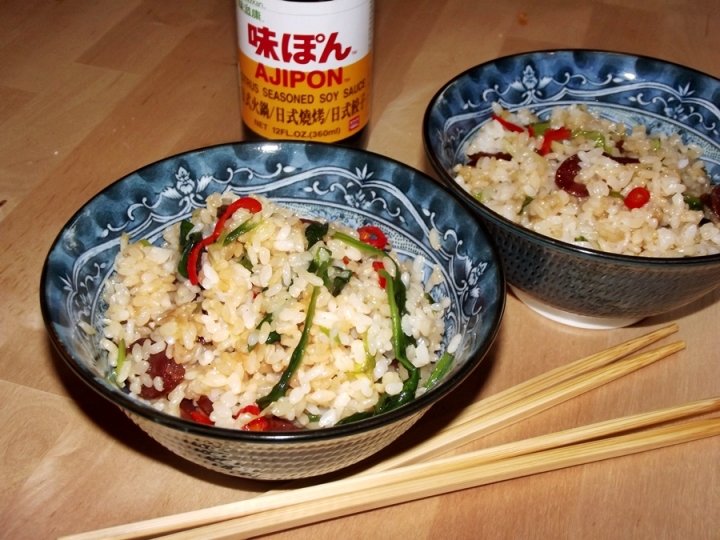 Fried Rice and Ajipon Soy Sauce