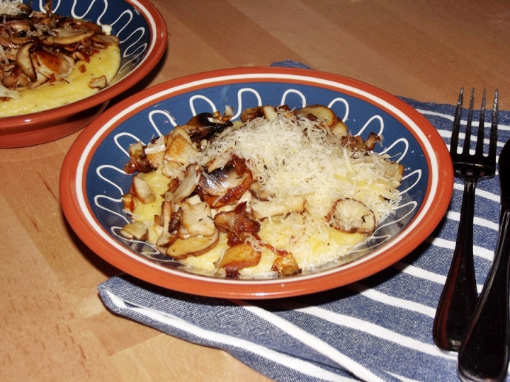 Polenta with Porcini and Thyme