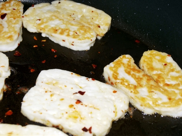 Halloumi Cheese with Chili