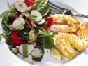 Sunchoke Salad with Halloumi
