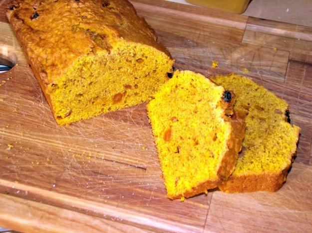 Pumpkin Bread with Sultanas