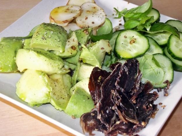 Salad of Avocado and Biltong