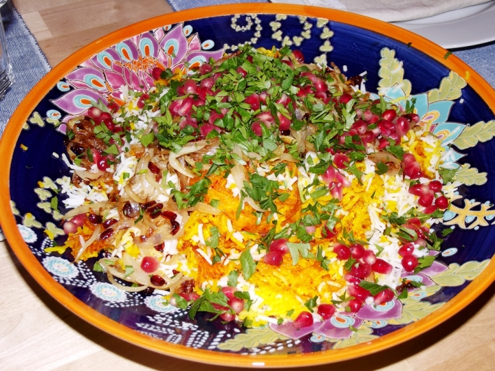 Persian Jeweled Rice, Morasa Polow