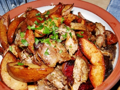 Slow Roasted Shoulder of Lamb and Quinces