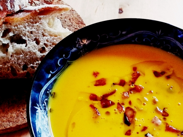 Cold Ferment Bread with Soup